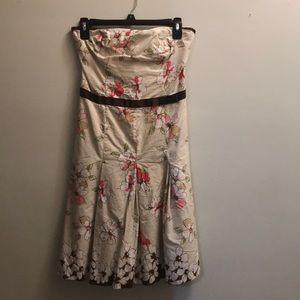 Retro flower print mini dress